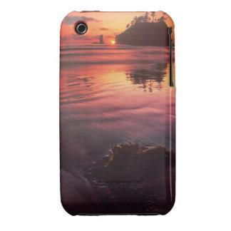 USA, Washington, Olympic National Park. Sunset Case-Mate iPhone 3 Case