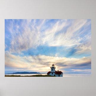 USA, Washington, San Juan Islands. Sunset 2 Poster