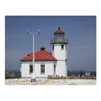 USA, Washington, Seattle, Alki Point Lighthouse, 2 Postcard
