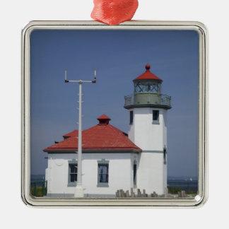 USA, Washington, Seattle, Alki Point Lighthouse, Metal Ornament