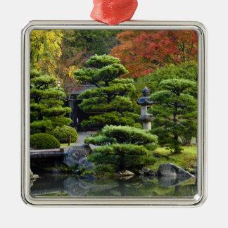 USA, Washington, Seattle, Arboretum, Japanese Silver-Colored Square Decoration