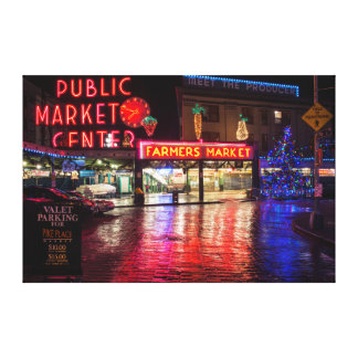 USA, Washington, Seattle, Pike Place Market Gallery Wrap Canvas