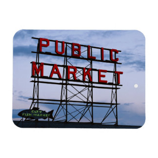 USA, Washington, Seattle, Pike Street Market Rectangular Photo Magnet