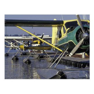 USA, Washington, Seattle, Seaplanes docked on Postcard
