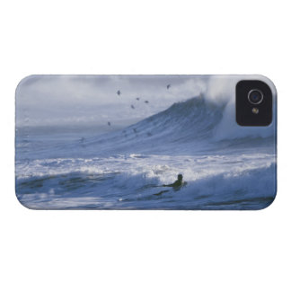 USA, Washington State, La Push. Man kayak iPhone 4 Case-Mate Cases