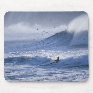 USA, Washington State, La Push. Man kayak Mouse Pad