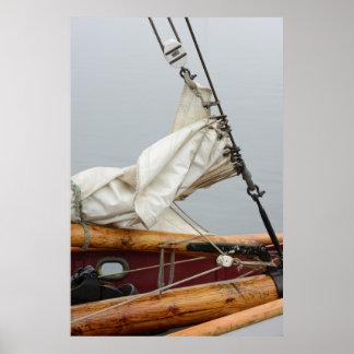 USA, Washington State, Port Townsend. Sailboat Poster