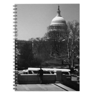 USA Washington The Capitol street Spiral Notebooks