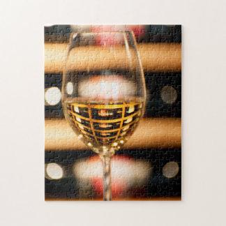 USA, Washington, Walla Walla. Wine Glass Jigsaw Puzzle