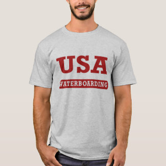 USA Waterboarding Front T-Shirt