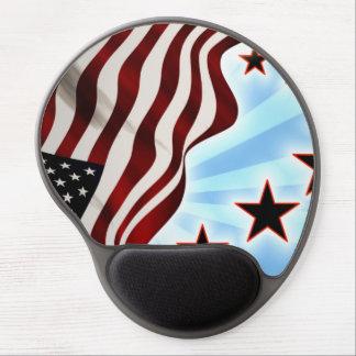 Usa wave flag gel mouse pad