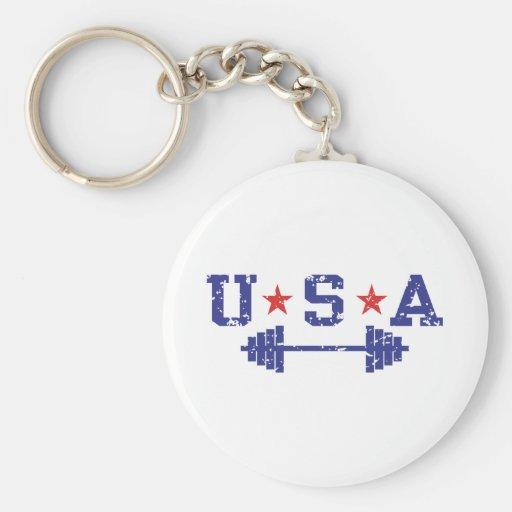 USA Weightlifting Key Chain
