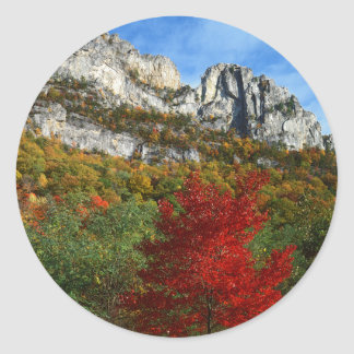 USA, West Virginia, Spruce Knob-Seneca Rocks Round Sticker