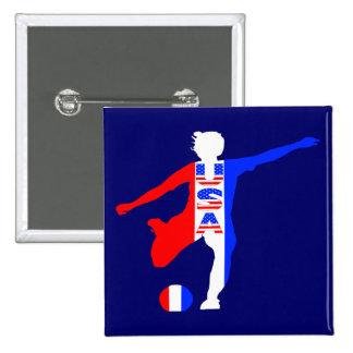 USA Women s Soccer Logo Buttons