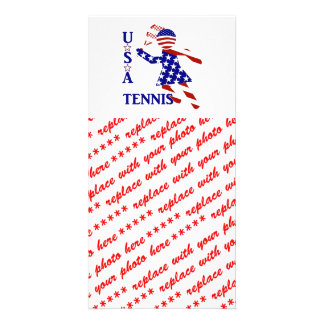 USA Women s Tennis Photo Greeting Card