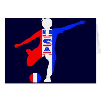 USA Women's Soccer Logo Card