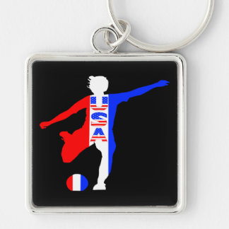 USA Women's Soccer Logo Key Chains