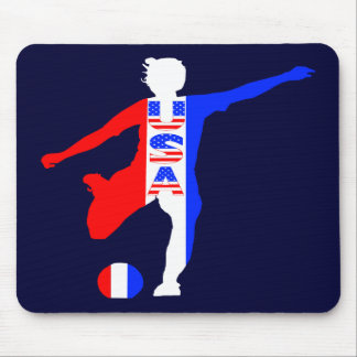 USA Women's Soccer Logo Mouse Pad