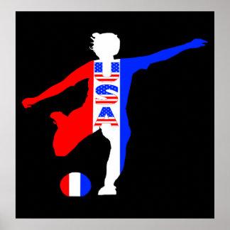USA Women's Soccer Logo Poster
