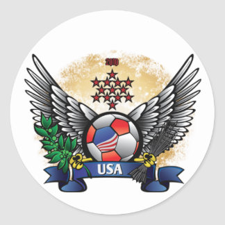 USA World Cup Soccer Round Sticker