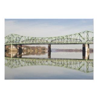 USA, WV, Parkersburg. Parkersburg-Belpre Photo Print