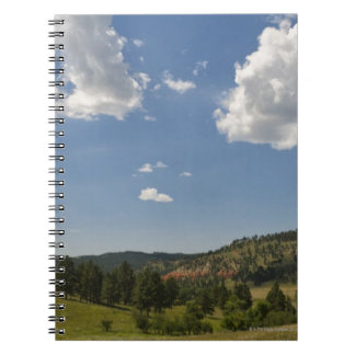 USA, Wyoming, Clouds over Devil's Tower Notebook