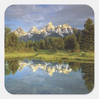 USA, Wyoming, Grand Teton National Park. Grand 2 Square Sticker