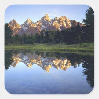 USA, Wyoming, Grand Teton National Park. Grand Square Sticker
