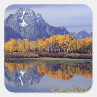 USA, Wyoming, Grand Teton National Park. Mt. Square Sticker