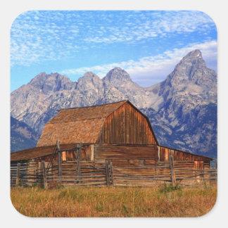 USA, Wyoming, Grand Teton National Park. Square Sticker