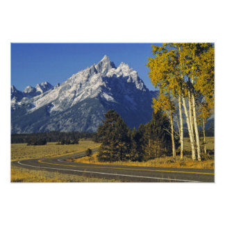 USA, Wyoming, Grand Teton NP. Teton Parkway Print