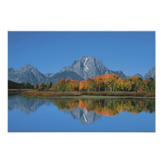 USA, Wyoming, Grand Tetons National Park in 4 Photo Print