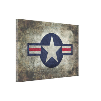 USAF Classic retro style Roundel Gallery Wrap Canvas