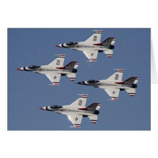 USAF F-16 Thunderbirds Card