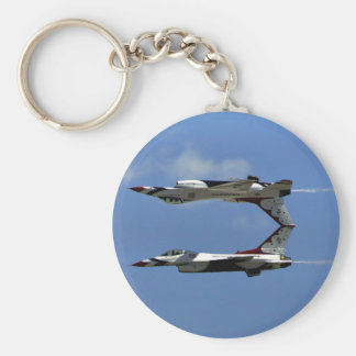 USAF Thunderbirds Basic Round Button Key Ring