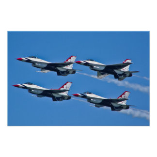 USAF Thunderbirds Diamond Side Poster