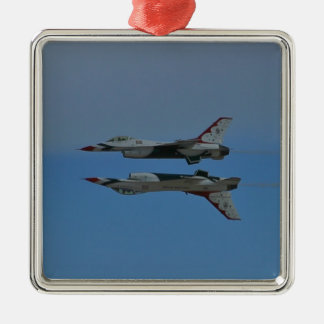 USAF Thunderbirds Solos Reflection Pass 2010 Metal Ornament