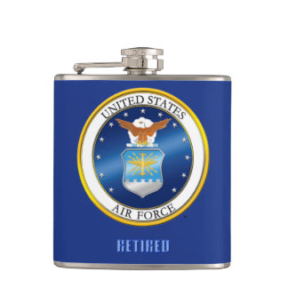 USAF Vinyl Wrapped Flask