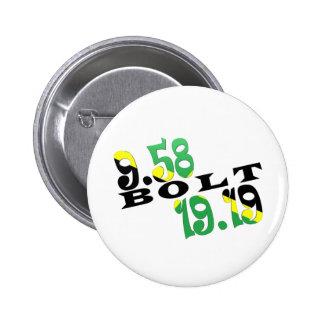 Usain Bolt Berlin 2 WR Jamaican Flag Pinback Buttons