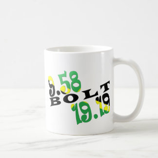 Usain Bolt Berlin 2 WR Jamaican Flag Basic White Mug