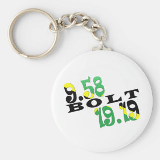 Usain Bolt Berlin 2 WR Jamaican Flag Basic Round Button Key Ring
