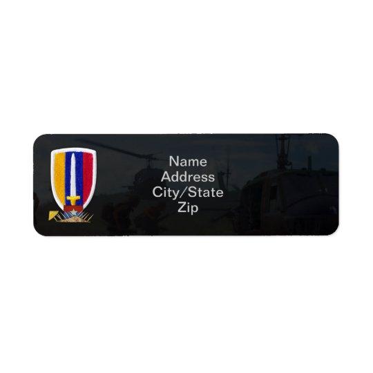 usarv vietnam nam war patch return address label
