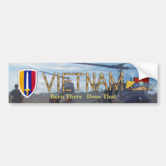 USARV Vietnam Nam War Patch Vets Bumper Sticker