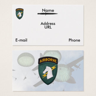 USASOC 1st special ops SOCOM veterans vets patch Business Card