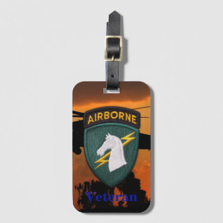 USASOC 1st special ops SOCOM veterans vets patch Luggage Tag