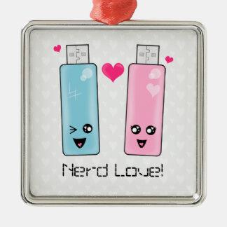 USB Flash Drive Love Silver-Colored Square Decoration