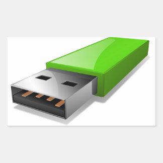 USB Flash Drive Stickers