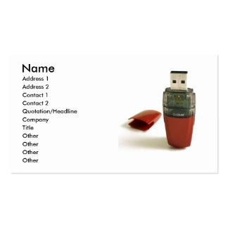 USB Flash pen Business Card Template
