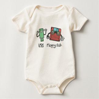 USB Floppy Disk Baby Bodysuit