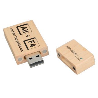 "USB stick ""the day belongs to you "" Wood USB 2.0 Flash Drive"
